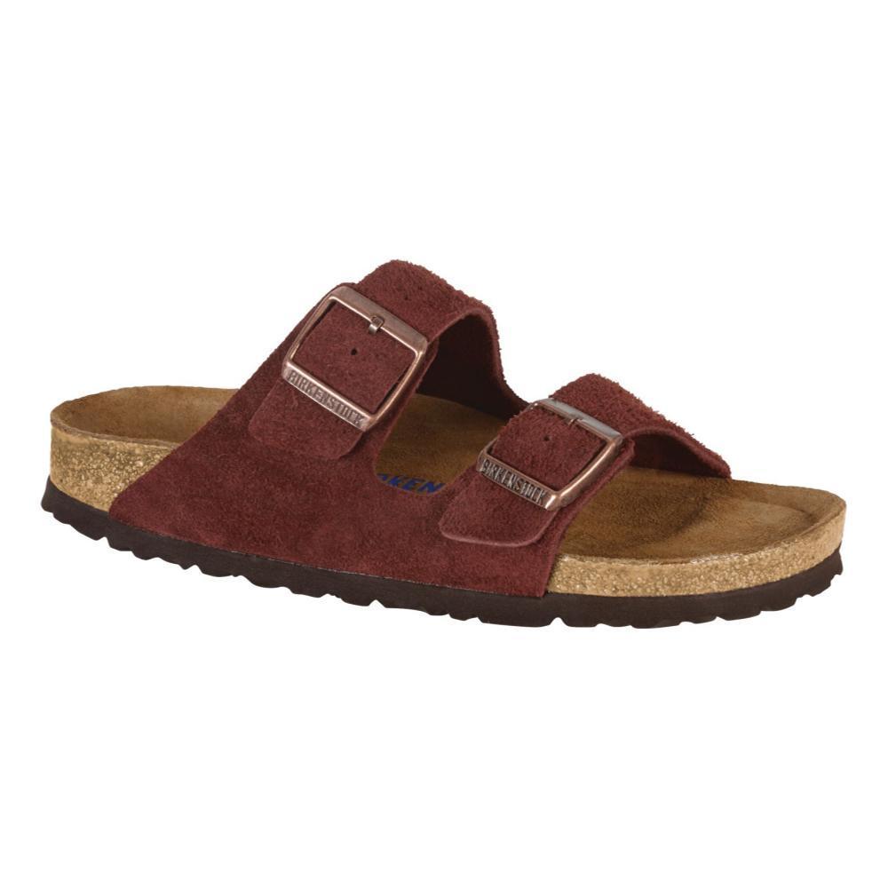 Birkenstock Women's Arizona Soft Footbed Suede Sandals PORT