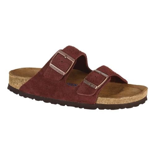Birkenstock Women's Arizona Soft Footbed Suede Sandals Port