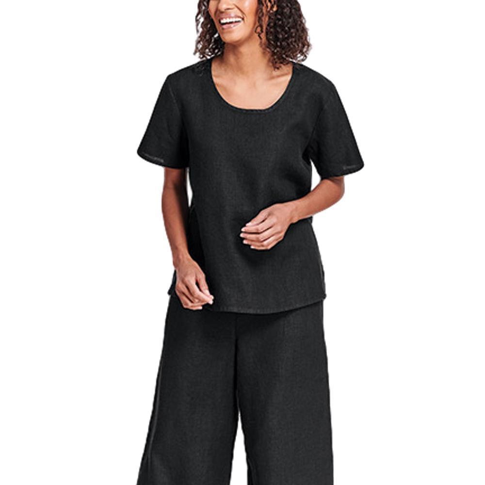 FLAX Women's Fundamental Tee BLACK