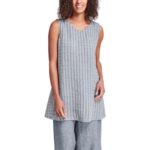 FLAX Women's Layer V-Neck Tunic Indigogauze