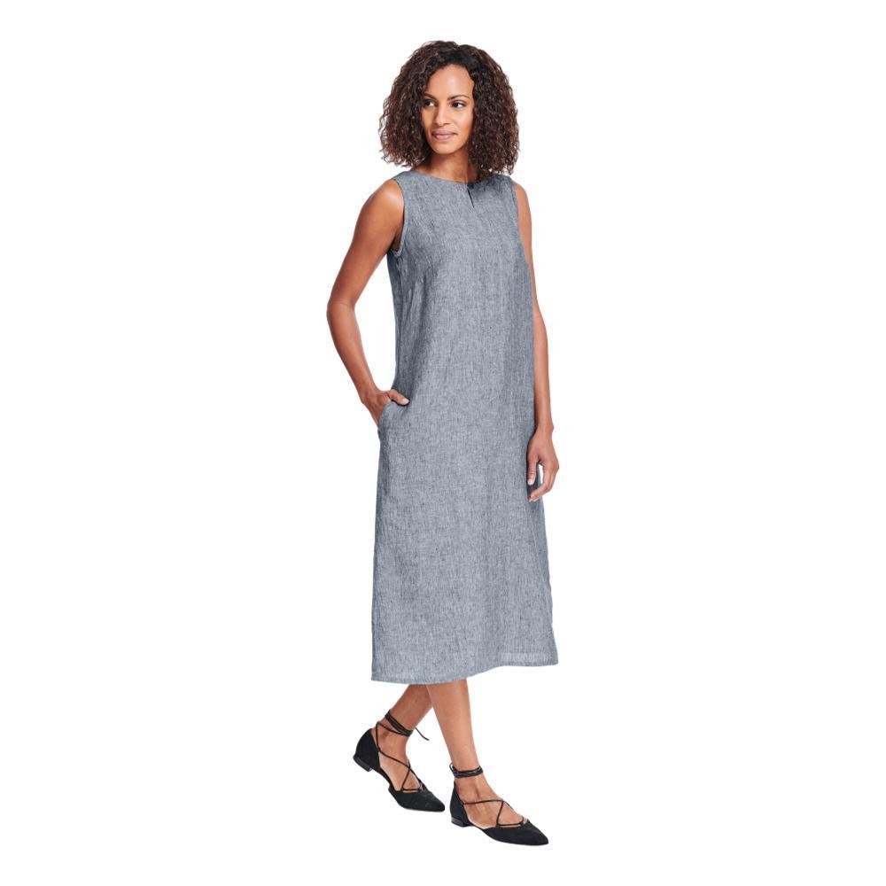 FLAX Women's Keyhole Dress INDIGO