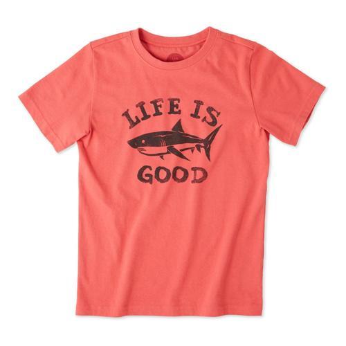 Life is Good Boys Shark Crusher Tee Red