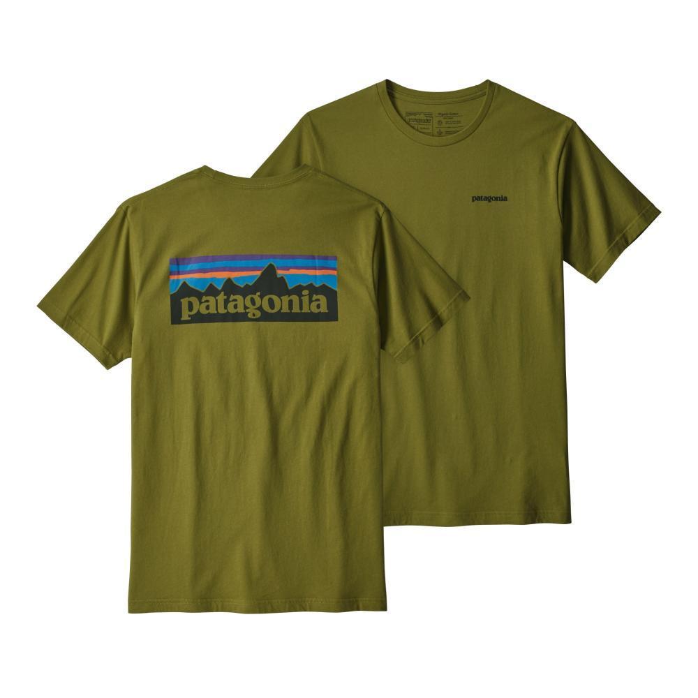 Patagonia Men's P-6 Logo Organic Cotton T-Shirt WILLOWG_WIL