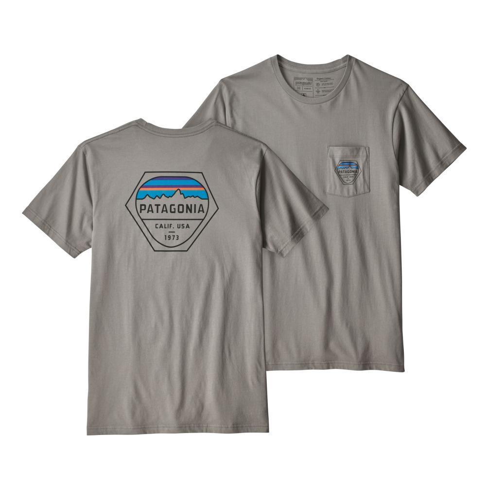 Patagonia Men's Fitz Roy Hex Organic Cotton Pocket T-Shirt FEATHRG_FEA