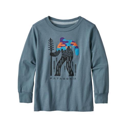 Patagonia Baby Long-Sleeved Graphic Organic T-Shirt Shdwblue_ffsb
