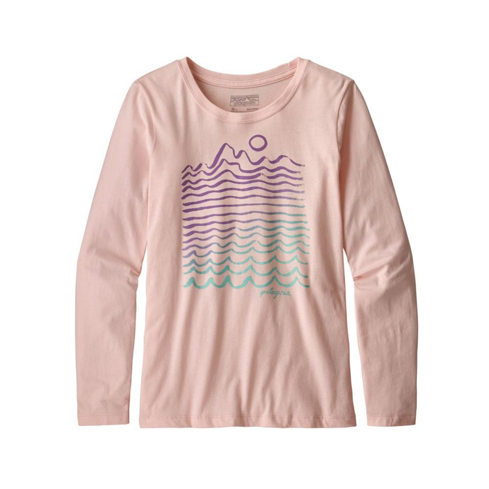 Patagonia Girls Long-Sleeved Graphic Organic T-Shirt PINK_WMPO