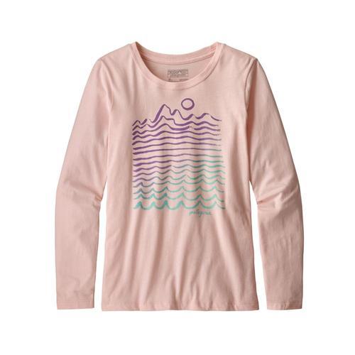 Patagonia Girls Long-Sleeved Graphic Organic T-Shirt Pink_wmpo