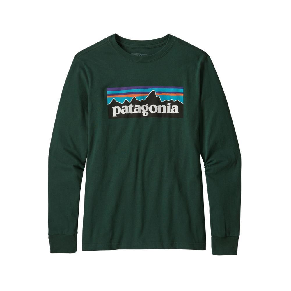 Patagonia Boys Long- Sleeved Graphic Organic T- Shirt