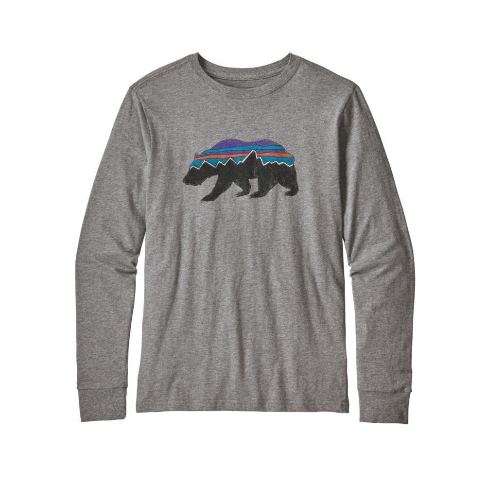 Patagonia Boys Long-Sleeved Graphic Organic T-Shirt GRAVEL_FRGH