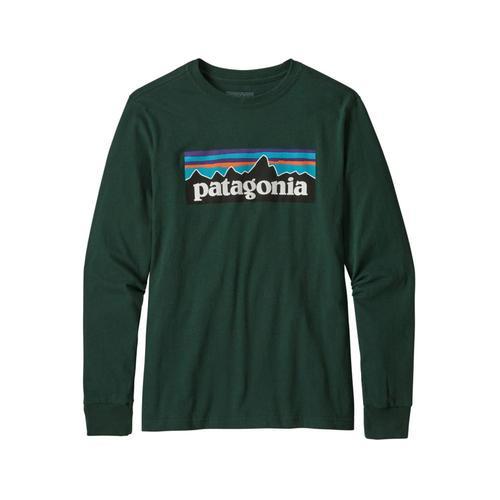 Patagonia Boys Long-Sleeved Graphic Organic T-Shirt Green_plmg