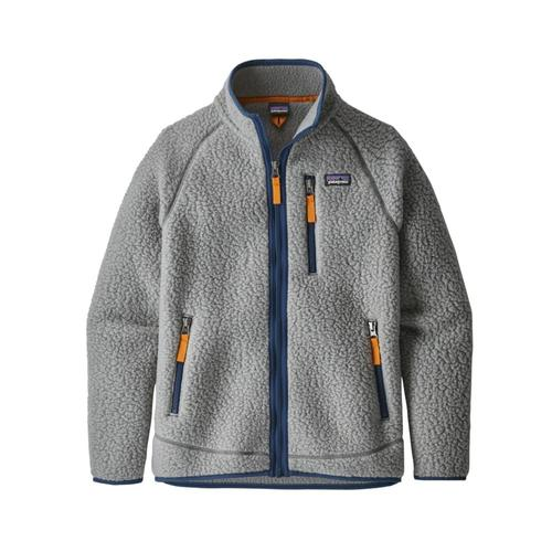 Patagonia Boys Retro Pile Jacket Grey_fea
