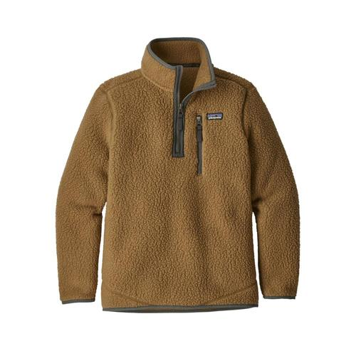 Patagonia Boys Retro Pile 1/4 Zip Brown_coi