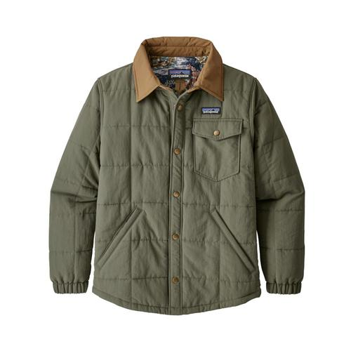 Patagonia Boys Quilted Shacket Green_indg