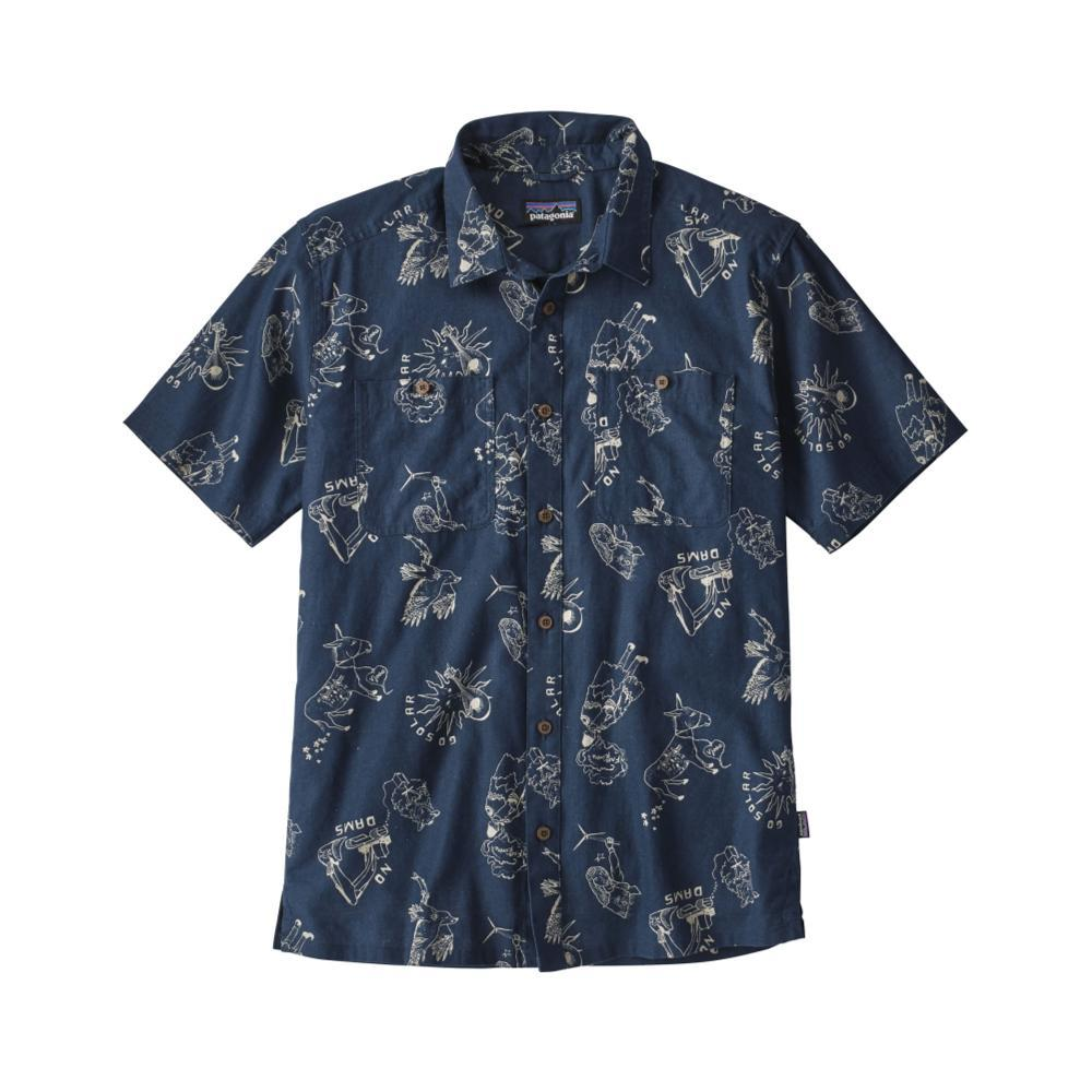 Patagonia Men's Back Step Short Sleeve Shirt BBST_BLUE