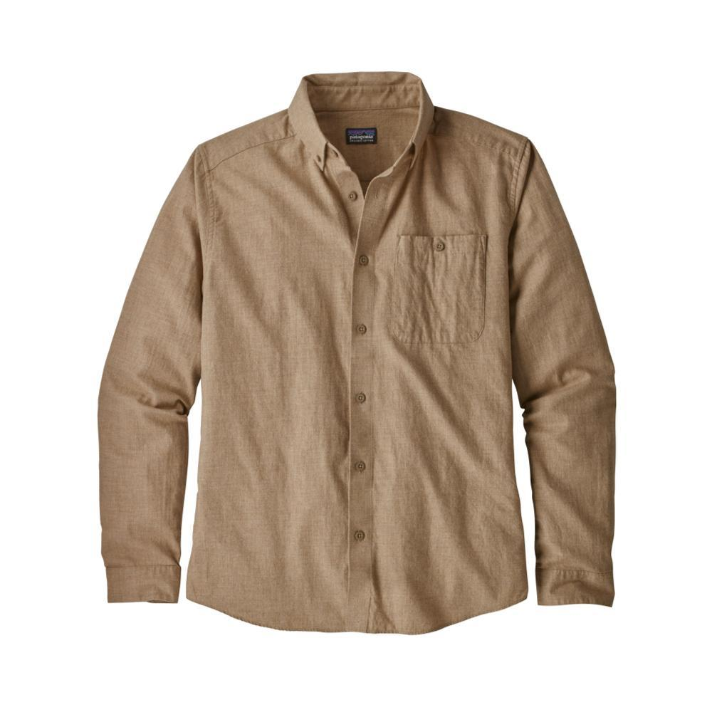 Patagonia Men's Long-Sleeved Vjosa River Pima Cotton Shirt MJVK_KHAKI