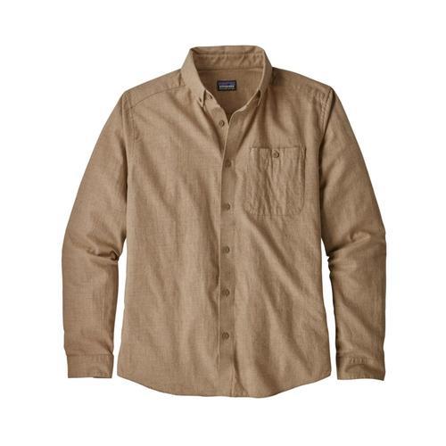 Patagonia Men's Long-Sleeved Vjosa River Pima Cotton Shirt Mjvk_khaki