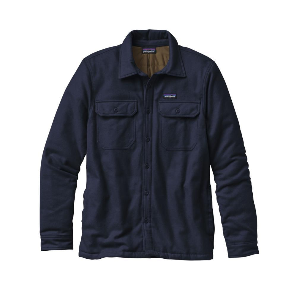Patagonia Men's Insulated Fjord Flannel Jacket NVYB_BLUE
