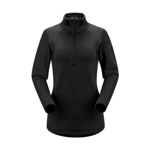 Arc'teryx Women's Rho AR Zip Neck Pullover Black