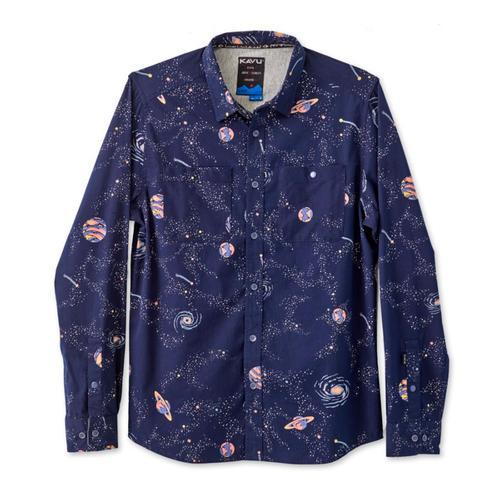 KAVU Men's Beckler Long Sleeve Shirt Space