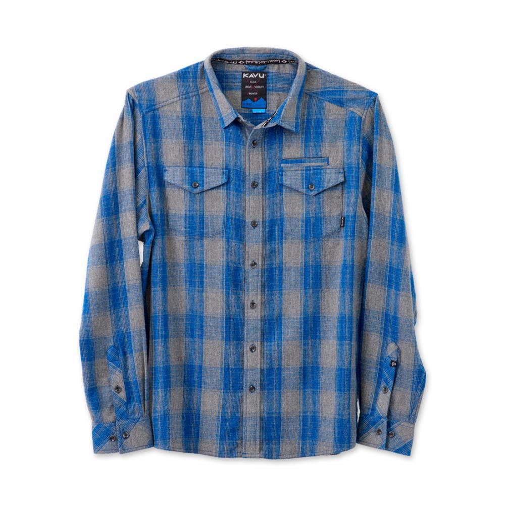 KAVU Men's Lorenzo Long Sleeve Shirt TRUEBLUE