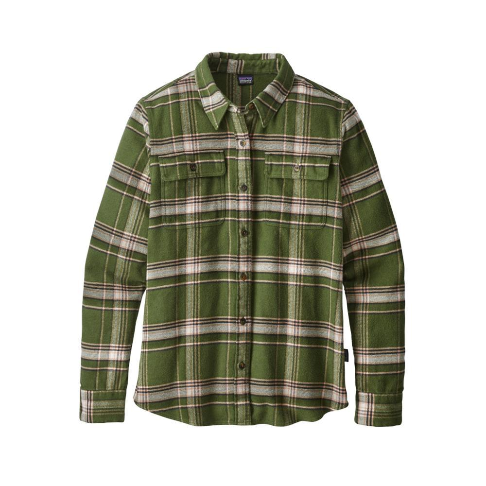 Patagonia Women's Long-Sleeved Fjord Flannel Shirt ABNG_GREEN