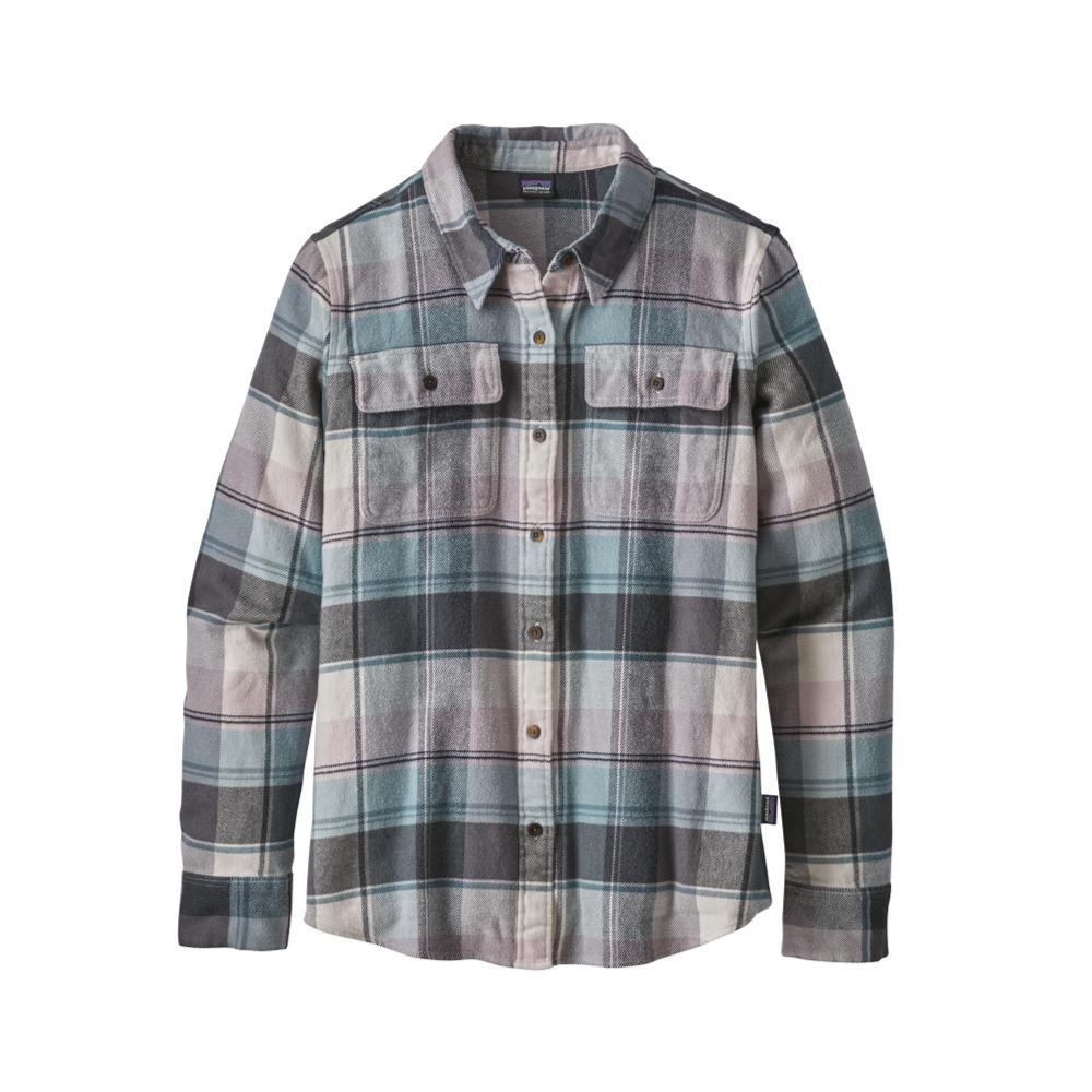 Patagonia Women's Long-Sleeved Fjord Flannel Shirt SACB_WHT
