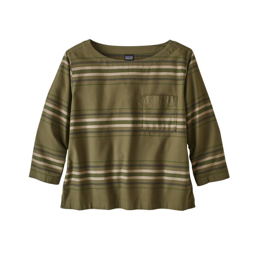 Patagonia Women's Catbells 3/4-Sleeved Top MSFA_GREEN
