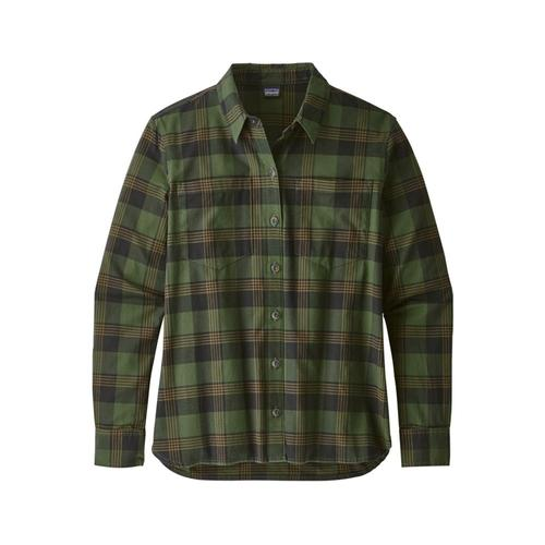 Patagonia Women's Long-Sleeved Catbells Shirt Oxno_green