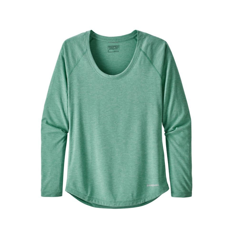 Patagonia Women's Long-Sleeved Nine Trails Shirt BRYG_GREEN