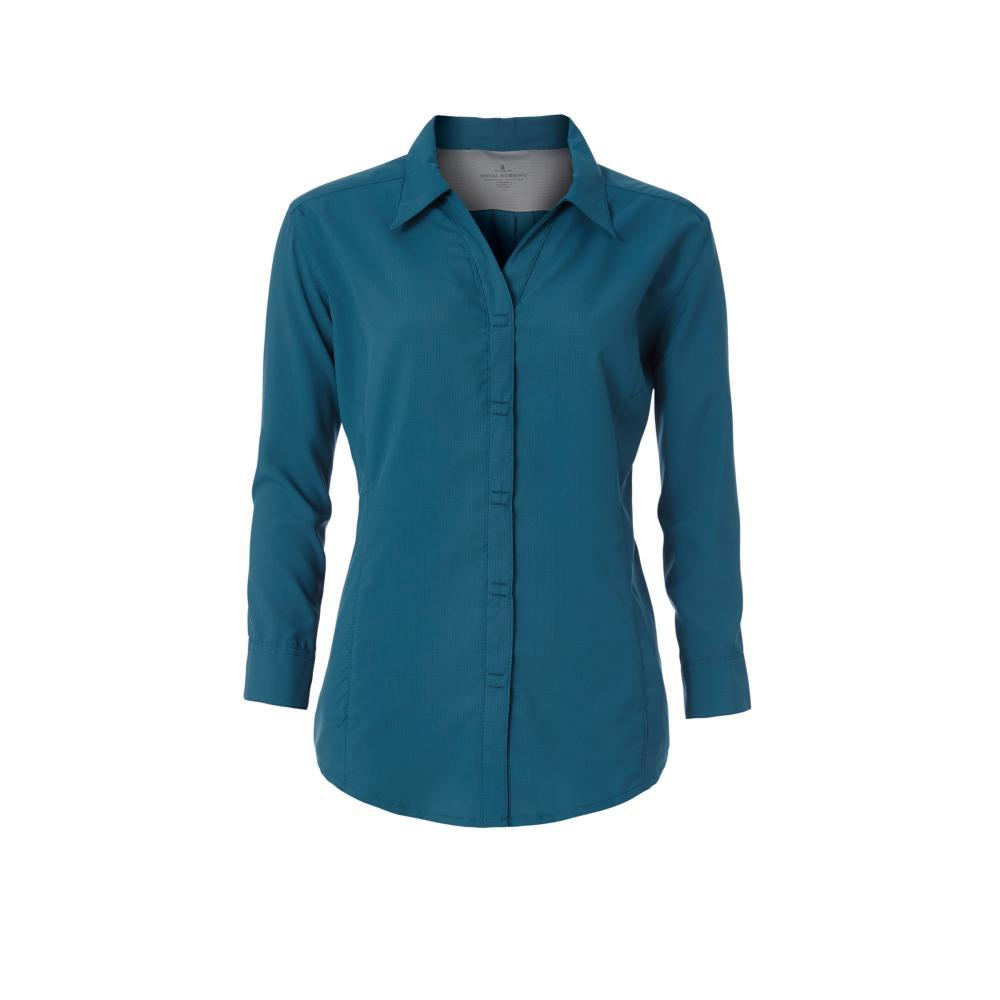 Royal Robbins Women's Expedition Dry Stretch 3/4 Sleeve Shirt BLUECORAL