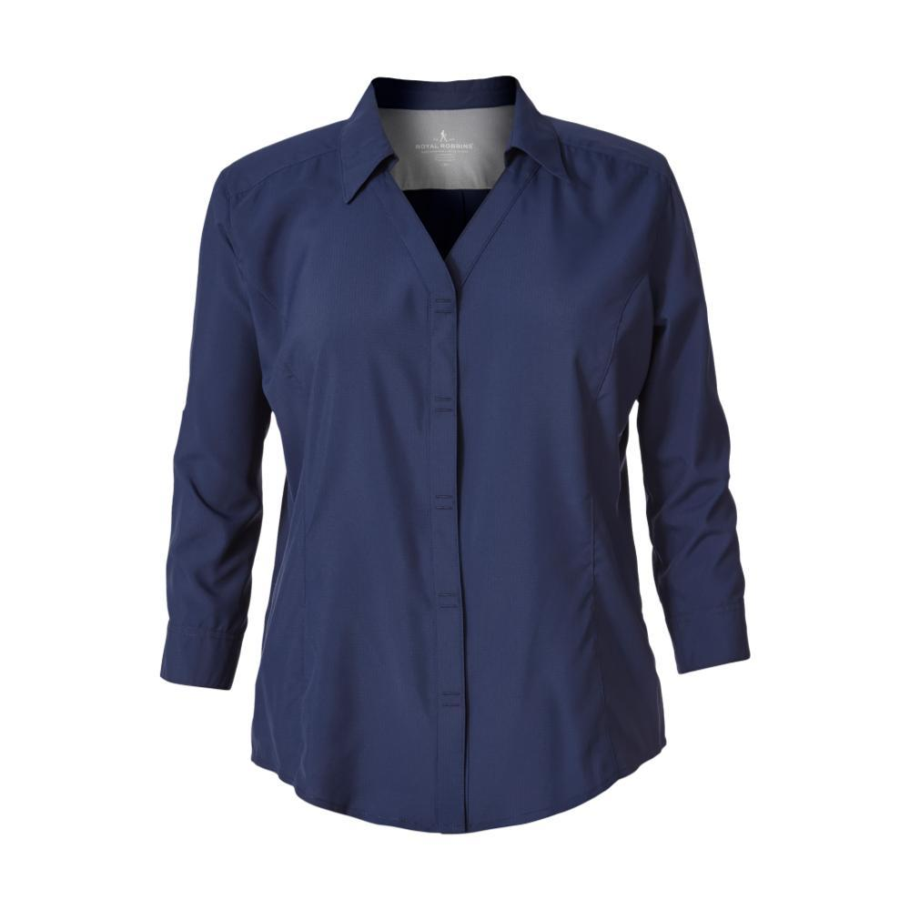Royal Robbins Women's Expedition 3/4 Sleeve Shirt DEEPBLUE