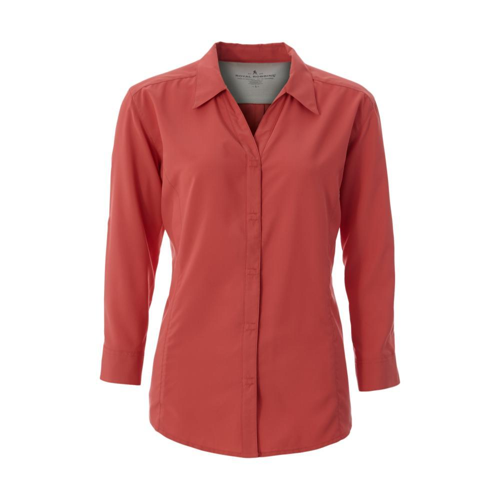 Royal Robbins Women's Expedition 3/4 Sleeve Shirt GRENADINE