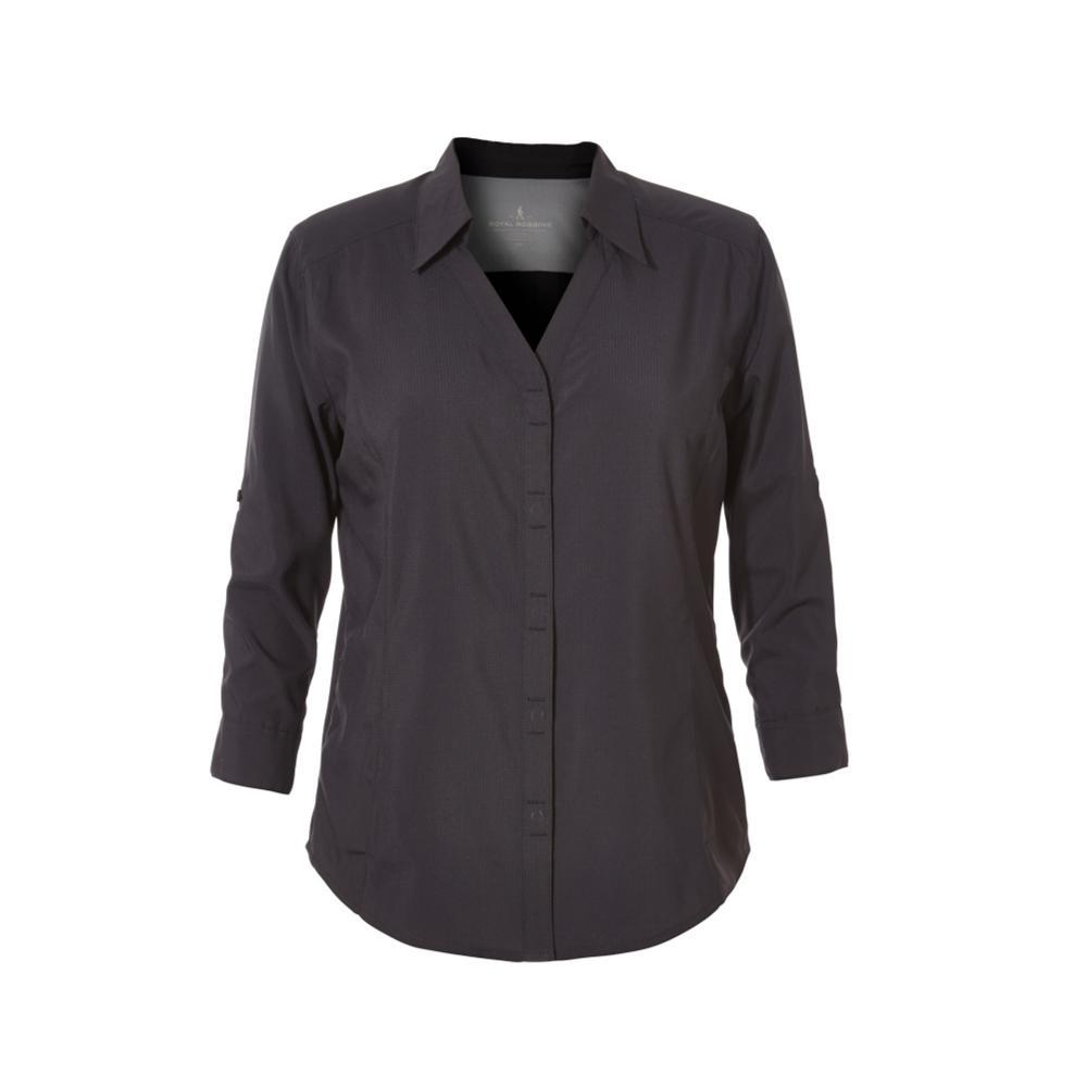 Royal Robbins Women's Expedition 3/4 Sleeve Shirt JETBLACK