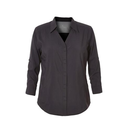 Royal Robbins Women's Expedition Dry Stretch 3/4 Sleeve Shirt Jetblack