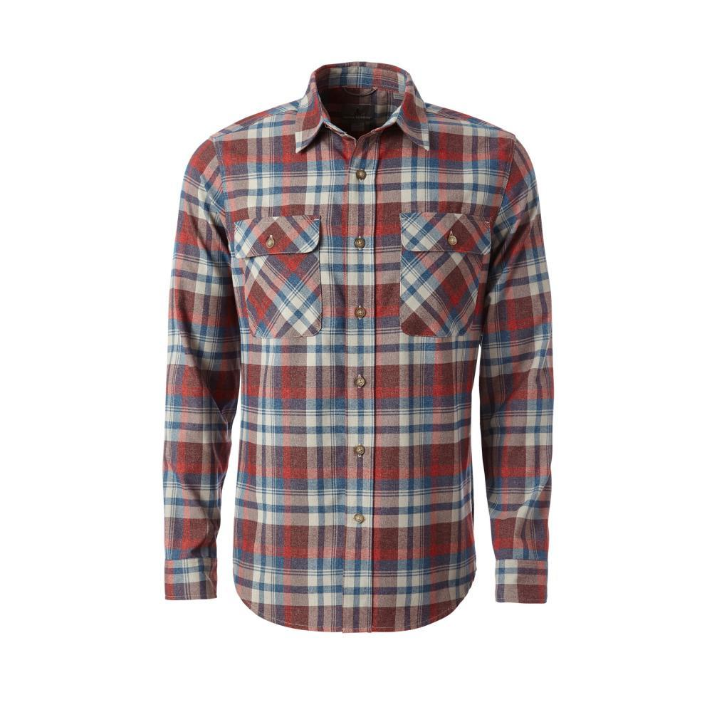 Royal Robbins Men's Performance Flannel Plaid Long Sleeve Shirt BEET