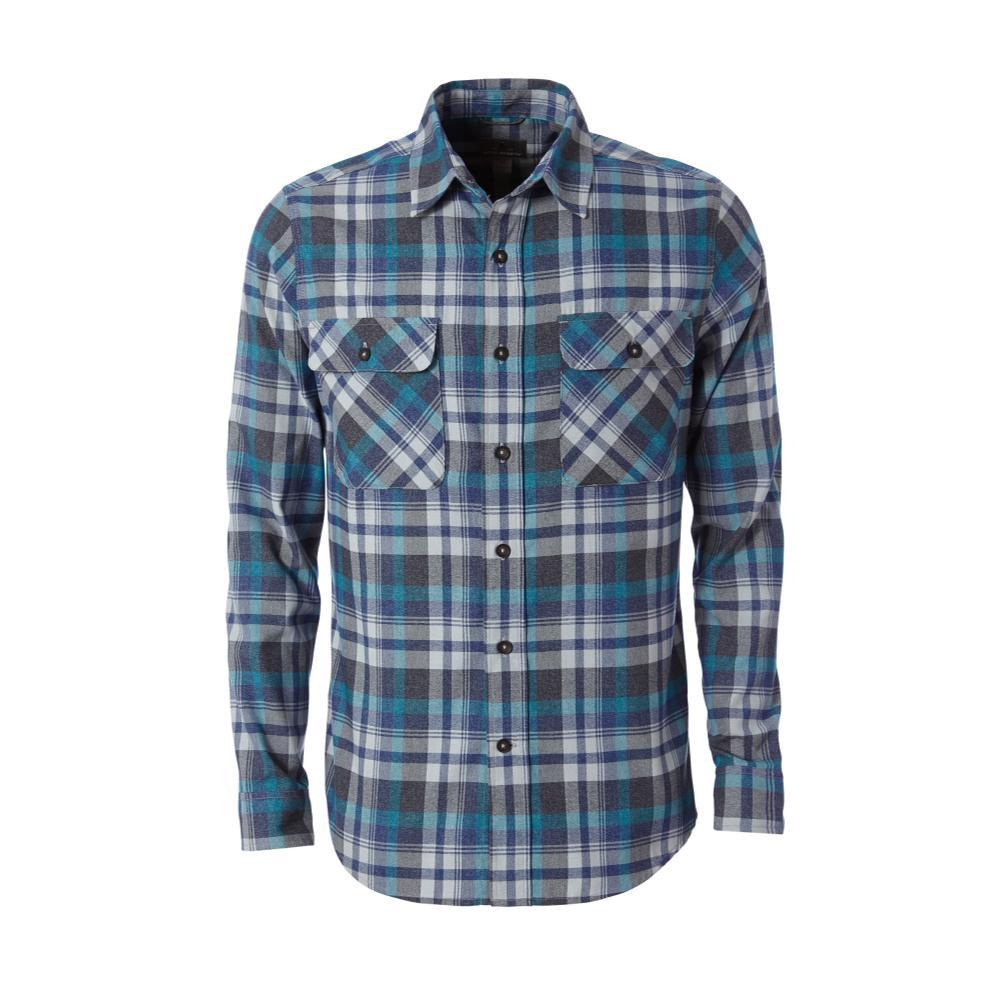 Royal Robbins Men's Performance Flannel Plaid Long Sleeve Shirt BLUEDEPTHS