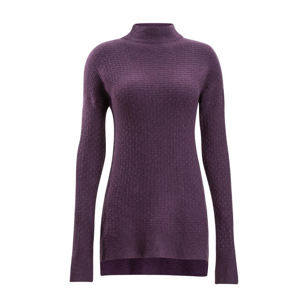 ExOfficio Women's Pontedera Funnel Neck Sweater EGGPLANT