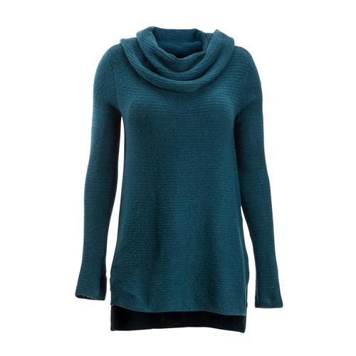 ExOfficio Women's Pontedera Cowl Neck Sweater Adriatic