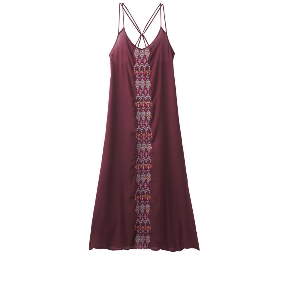 prAna Women's Autumn Dress BLACKCHERRY