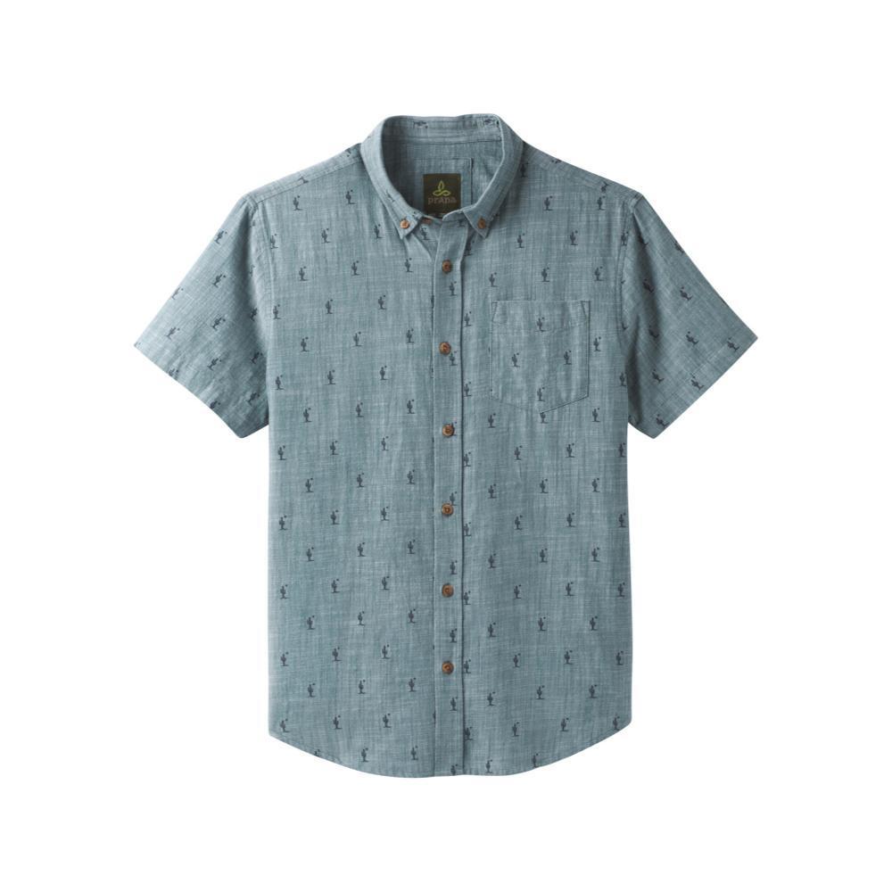 prAna Men's Broderick Short Sleeve Shirt GRNCACTUS