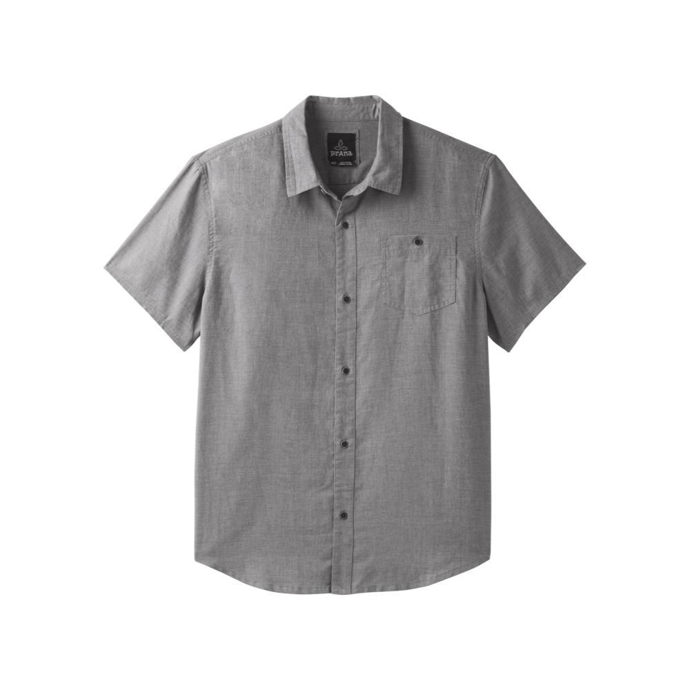prAna Men's Virtuoso Short Sleeve Shirt GRAVEL