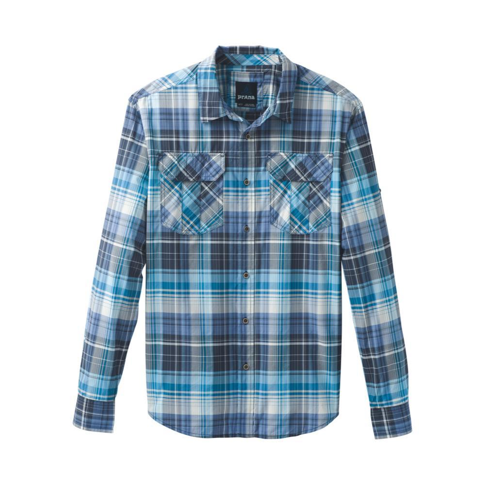 prAna Men's Citadel Plaid Long Sleeve Shirt CLEARBLUE