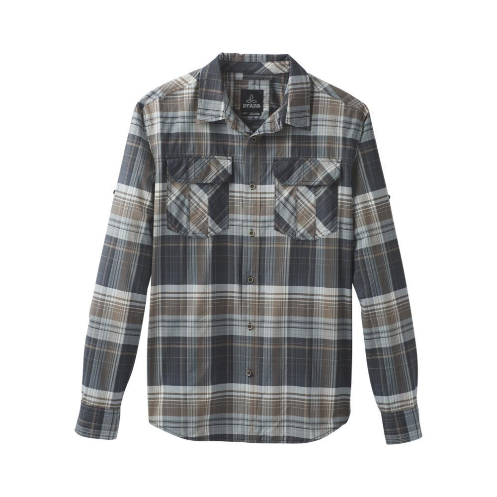 prAna Men's Citadel Plaid Long Sleeve Shirt COAL