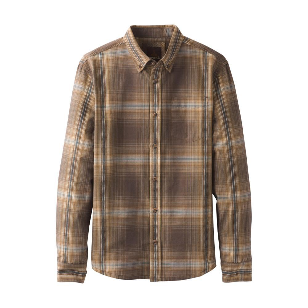 prAna Men's Broderick Long Sleeve Shirt BROWN