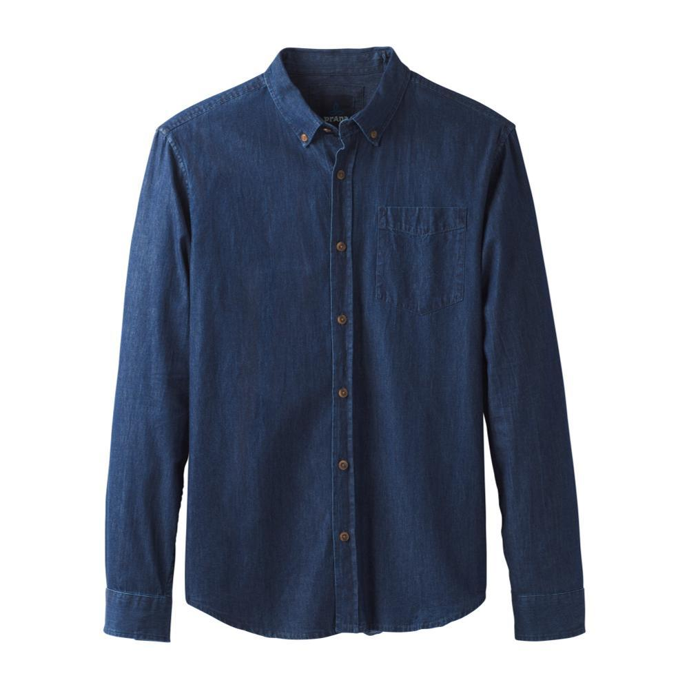 prAna Men's Broderick Long Sleeve Shirt INDIGO