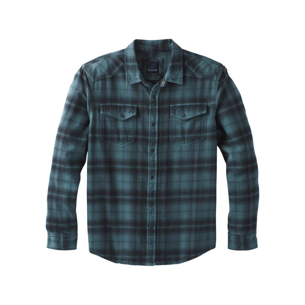 prAna Men's Horizon Long Sleeve Flannel WTHRBLUE