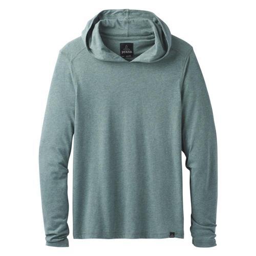 prAna Men's Long Sleeve Hood Greenhthr