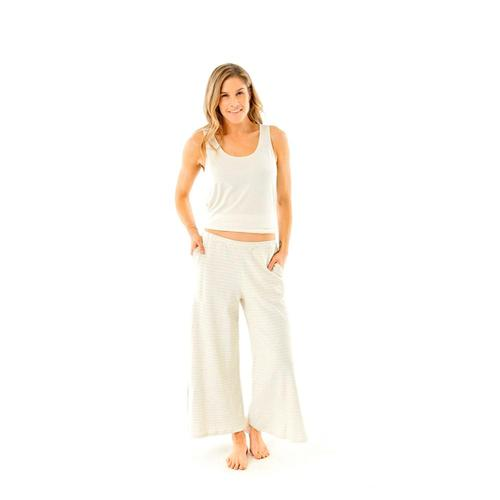 Carve Designs Women's Insley Loose Cropped Pants Stone