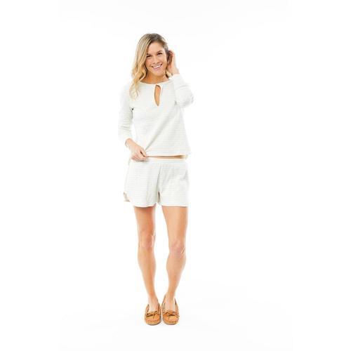 Carve Designs Women's Insley Long Sleeve Henley Stone