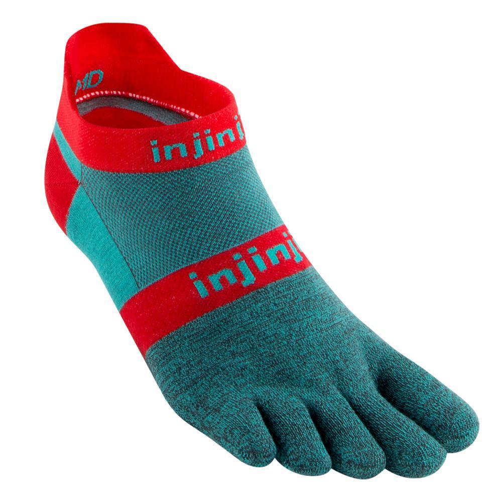 Injinji Unisex Run Original Weight No-Show Socks AQUABERRY